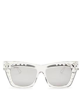 41dbc54f52e Jimmy Choo - Women s Bee Mirrored Embellished Square Sunglasses