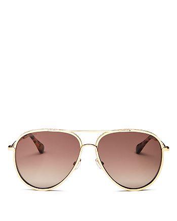 Jimmy Choo - Women's Triny Brow Bar Aviator Sunglasses, 59mm