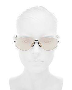 Kenzo - Women's Mirrored Brow Bar Aviator Sunglasses, 61mm