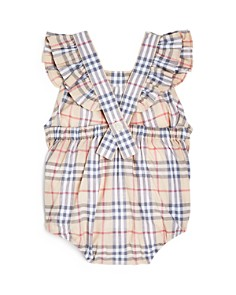 Burberry - Girls' Apron Detail Check Romper - Baby