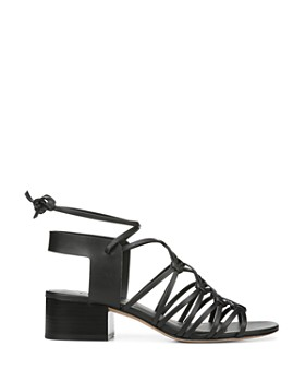 Vince - Women's Beaumont Leather Lace Up Block Heel Sandals