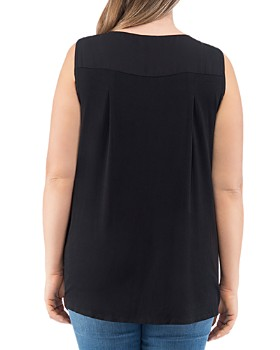 B Collection by Bobeau Curvy - Alison V-Neck Top