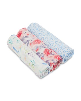 Aden and Anais - Girls' Watercolor Garden 3-Piece Swaddle Blanket Set
