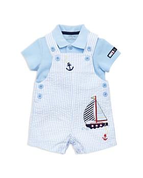 1e32a3d6e72b Little Me - Boys  Anchor Seersucker Overalls   Polo Set - Baby ...