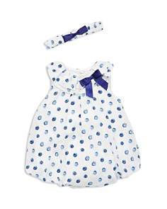 Little Me - Girls' Bubble Dot Bodysuit-Dress & Headband Set - Baby