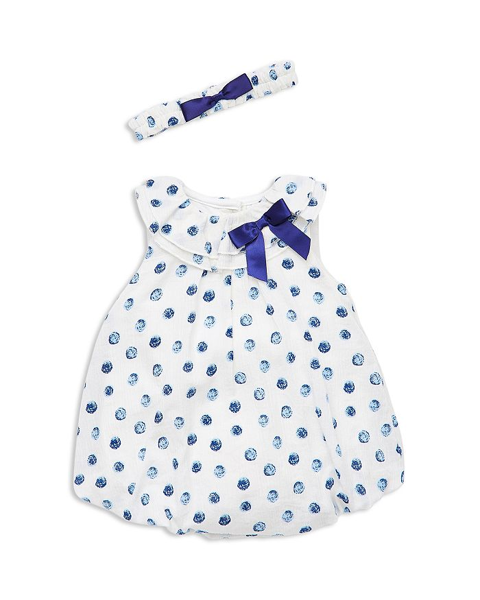 Little Me - Girls' Bubble Dot Bodysuit-Dress & Headband Set - Baby