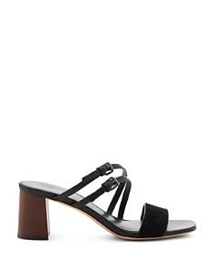 Botkier - Women's Dune Suede & Leather Block Heel Slide Sandals