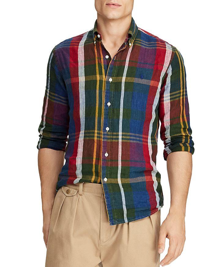 90ece4c1 Yale Plaid Linen Classic Fit Button-Down Shirt