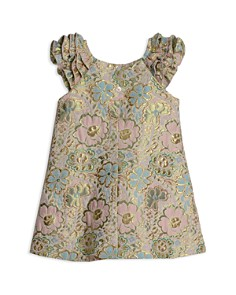 Pippa & Julie - Girls' Metallic Brocade A-Line Dress - Little Kid