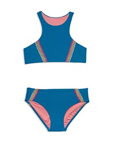 Gossip Girl - Girls' Racerback Two-Piece Swimsuit - Big Kid