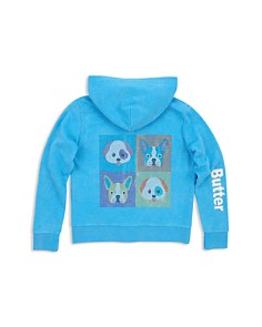 Butter - Girls' Doggie Zip-Up Hoodie - Little Kid