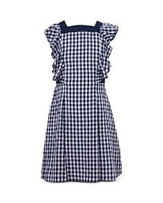 BCBGirls - Girls' Ruffle-Sleeve Gingham Dress - Big Kid