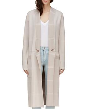 Soia & Kyo - Annabella Plaid Long Knit Coat