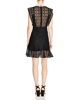 Sandro - France Chain-Link Lace Mini Dress
