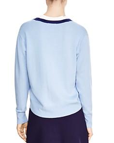Sandro - Nael Wool & Cashmere V-Neck Sweater