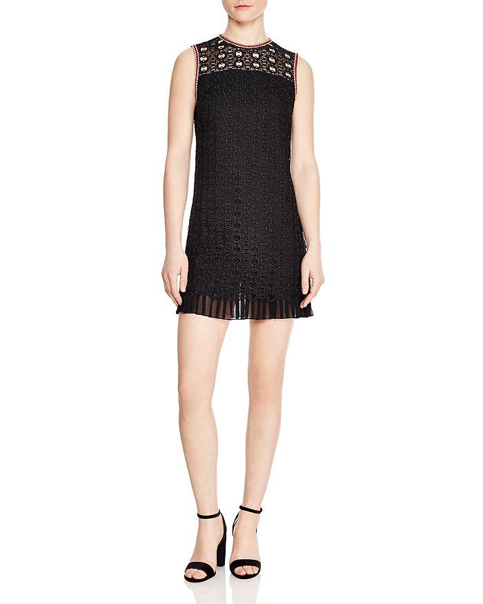 5d51550f233 Sandro - Franck Sleeveless Chain-Link Lace Mini Dress