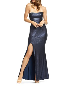 2936618f987 Dress the Population - Ellen Sequined Strapless Gown ...