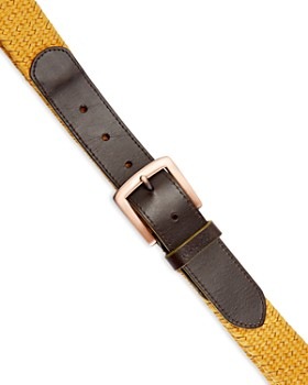 Ted Baker - Galan Leather Woven Belt
