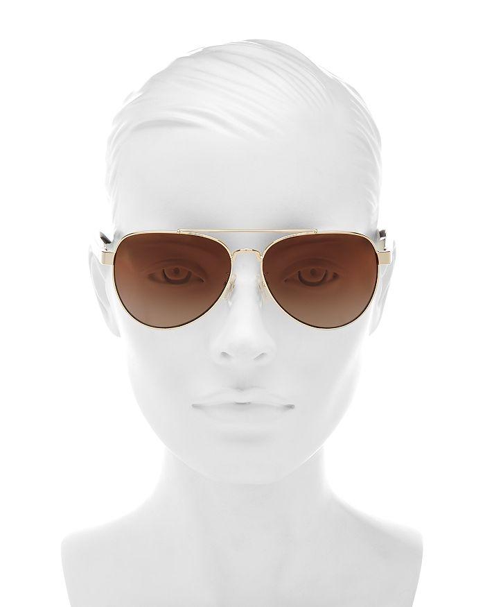 1783e479a552 Tory Burch - Women s Polarized Brow Bar Aviator Sunglasses