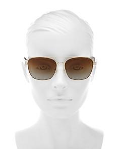Tory Burch - Women's Polarized Brow Bar Aviator Sunglasses, 57mm