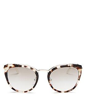 Prada - Women's Mirrored Cat Eye Sunglasses, 54mm