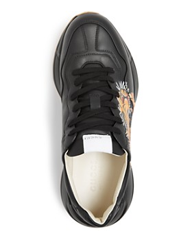 Gucci - Men's Rhyton Tiger Leather Low-Top Sneakers