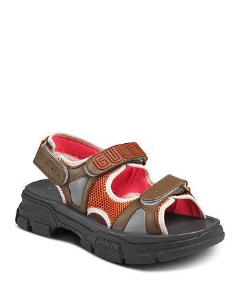 Gucci - Men's Leather & Mesh Sandals