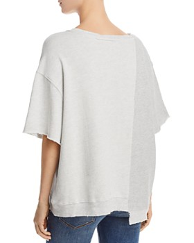 Hudson - Asymmetric Color-Block Sweatshirt