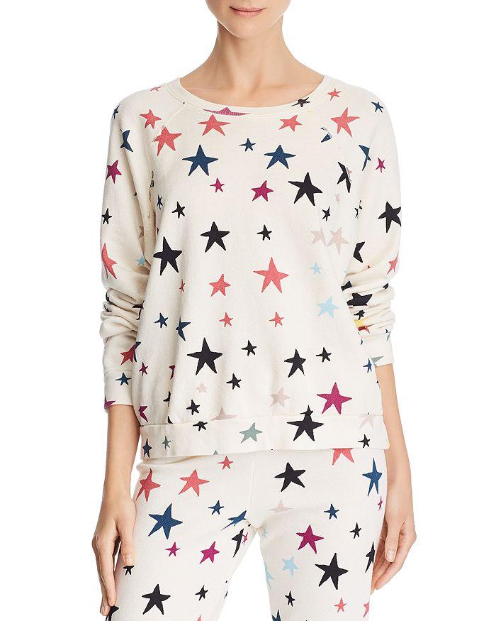 Monrow - Star Print Raglan Sweatshirt
