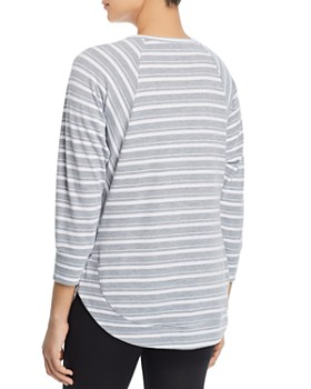 Marc New York - Striped High/Low Top