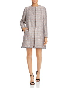 Emporio Armani - Metallic Check-Pattern Coat