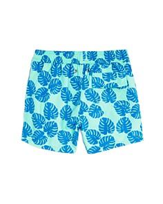 TOM & TEDDY - Boys' Leaf Print Swim Trunks - Little Kid, Big Kid