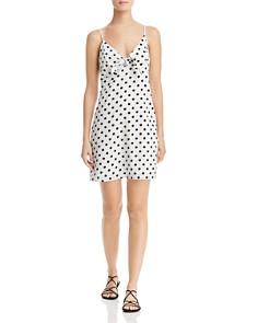 Re:Named - Polka Dot Tie-Detail Mini Dress