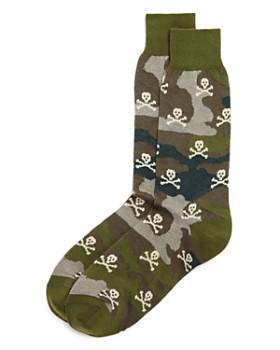 The Men's Store at Bloomingdale's - Camouflage & Skulls Socks - 100% Exclusive