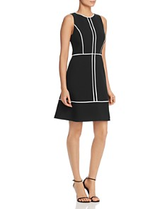 kate spade new york - Sleeveless Contrast-Trim Dress