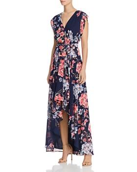 Eliza J - Obi Floral Print High/Low Dress