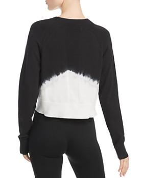 Blanc Noir - Dip-Dye Cropped Crewneck Sweater
