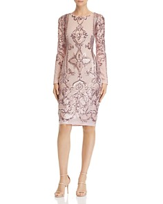 AQUA - Sequined Sheath Dress - 100% Exclusive