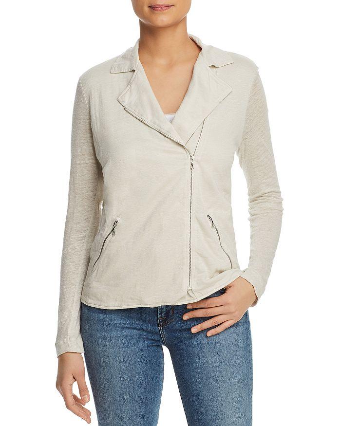 4b278f6b0c Majestic Filatures - Linen Knit Moto Jacket