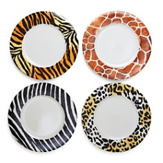 VIETRI - Into the Jungle Animal Skin Service Plates/Chargers - Set of 4 - 100% Exclusive