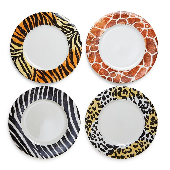 VIETRI - Into the Jungle Animal-Patterned Service Plates/Chargers - Set of 4 - 100% Exclusive