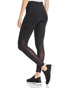 Nike - Pro Warm Mesh-Inset Leggings