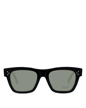 Celine Unisex Rectangular Sunglasses, 51mm