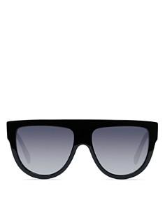 CELINE - Women's Polarized Flat Top Aviator Sunglasses, 60mm