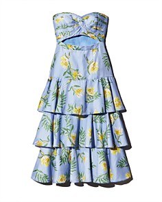 Amur - Radiant Floral Strapless Dress