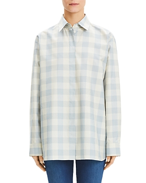 Theory Cottons GINGHAM CLASSIC MENSWEAR SHIRT