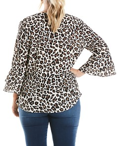 Estelle Plus - Leopard-Print Wrap Top