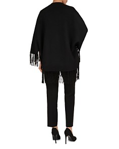 Gerard Darel - Leatitia Fringed Wool Poncho
