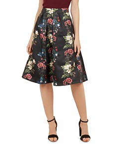 Ted Baker - Bevly Oracle Floral-Jacquard Skirt