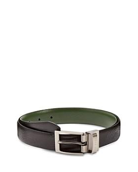 3a56b4cec Ted Baker - Josef Lizard-Embossed Leather Reversible Belt ...